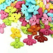 "Pkg of 20 BEE Plastic Buttons 7/8"" (23mm) Craft Scrapbook (2115) Various Colors"