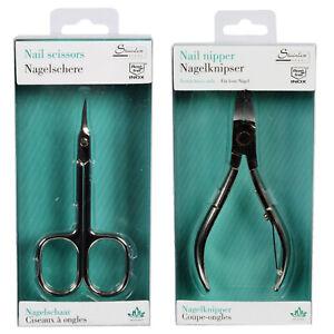 2er SET Nagelzange + Nagelschere Nagelknipser Nagelpflege Nagelhautschere Schere
