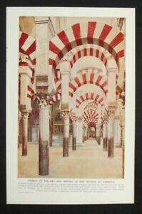 Vintage Print: Mosque at Cordova / Alhambra at Granada, Double-sided, 1925