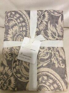Pottery Barn Gray Alessandra Printed Organic Cotton Shower Curtain NWT 72x72