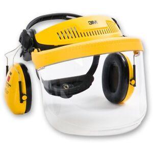 3M G500 Industrial Headgear Visor, Optime Ii Ear Muff