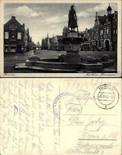Husum Markt am Brunnen und Apotheke sw 1940