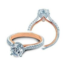 BRAND NEW Verragio ENG-0457R-2 18K White and Rose Gold Diamond Engagement Ring