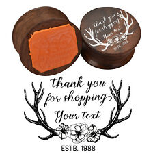 Thank you for Shopping Personalized Wooden Rubber Stamp DIY Custom Rubber Stamp