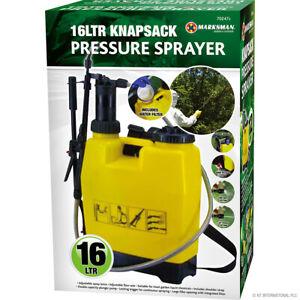 16L KNAPSACK PRESSURE SPRAYER WATER SPRAY BOTTLE BACKPACK WEED KILLER GARDEN