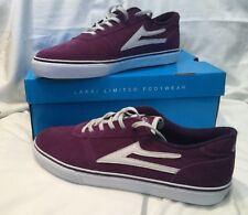 Genuine Lakai Mens Manchester Purple & White Suede Skate Shoes UK Size 10 BNIB