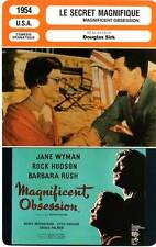 FICHE CINEMA : LE SECRET MAGNIFIQUE Wyman,Hudson,Sirk 1954 Magnificent Obsession