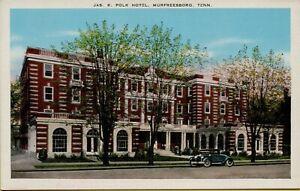 Exterior Street View Jas. K. Polk Hotel US 41 Murfreesboro TN Postcard D46