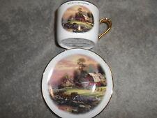 G-4 Thomas Kinkade Sunset At Riverbend Farm Porcelain Cup Saucer - Teleflora