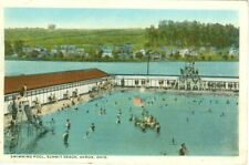 Akron OH Summer at the Swimming Pool at Summit Beach 1924