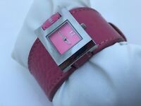 Strom Women Watch Pink Genuine Leather Band Analog Ladies Wrist Watch