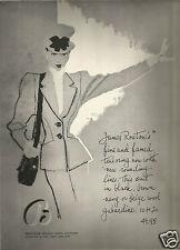 40's Inga Stephens Pratt Illustrated Bloomingdales Fashion Ad  1946