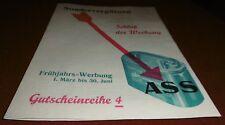 Advertising LEAFLET Ace Alliance U Stuttgart Life Insurance Bank Advertising 1935