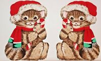 """Iron On Christmas Appliques Two Kittens 4"""" x 6"""""""