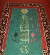 Ancienne serviette de bain tapis vert Casino Deauville roulette Lucien Barrière
