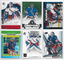 Henrik Lundqvist 15 Card Lot W/ Inserts SP AUTHENTIC /999 ARTIFACTS /599 FREE S&