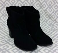 Womens Splendid Lakota Black Suede Ankle Boots Size 8.5M 8.5 M Dress Booties