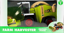 Large Friction Powered Harvester Farm Vehicle Toy- Combine / Silage