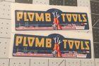 Plomb Tools War WW2 decals vintage tool box 1940's vinyl 4 3/4? For Inset set 2