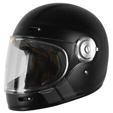 Vega casco integrale moto stile vintage anni 80 nero opaco