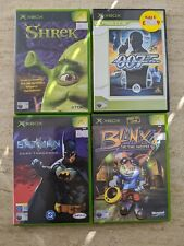 XBOX Original Game Bundle x 4 Games. BATMAN SHREK BLINX 007. FREE UK POSTAGE.