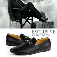 New Mens Slip On Smart Leather Loafers Casual Driving Designer Shoes Size