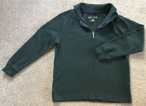 Nautica Half Zip Pull Over Sweater For Boys In Size M/10-12