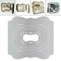Background Plates Frame Metal Cutting Dies Scrapbooking Paper Card Making Crafts