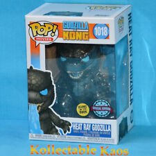 2 Set Godzilla VS Kong - Heat Ray Glow in The Dark Pop Vinyl Figure 1018
