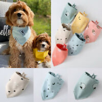 3PCS Pet Saliva Towel Adjustable Bandana Dog Cat Bib Triangular Tie Collar Scarf