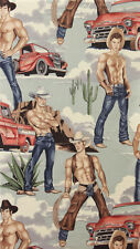 Alexander Henry Wranglers Western Cowboy Vintage Fabric BHY