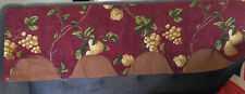 Waverly Layered Valance Chianti Tuscan Grapes Pears New No Packaging