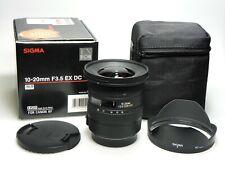 Sigma 10-20 mm F3.5 HSM DC f. Canon