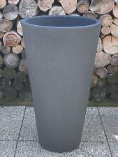 Pflanzkübel Blumenkübel 50 x 50 cm Kunststoff Anthazit  Struktur Optik//Rillen