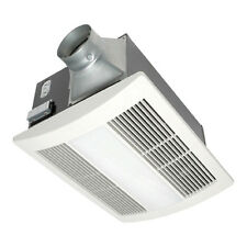 Stainless Steel 0.7-Sone 110-CFM Bathroom Fan with Integrated Heater and Light