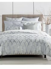 NEW!Hotel Collection Dimentional Silver KING Duvet Cover & Two Standard Sham.