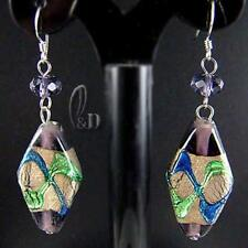 Glass Drop/Dangle Sterling Silver Handcrafted Earrings