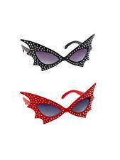 Brille mit Strass Fledermaus Halloween