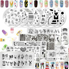 NICOLE DIARY Rectangle Nail Art Stamping Plate Nature World Series Bird leaf Bee