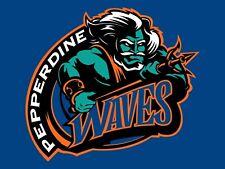 Pepperdine Waves King Neptune NCAA Mens Embroidered Polo XS-6X, LT-4XLT New
