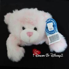 Build-A-Bear UNSTUFFED WHITE CUDDLES PINK BLUSH Plush Teddy w HEART, TAG, RIBBON