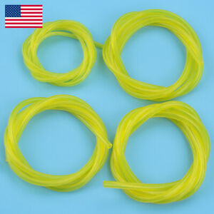 4 Sizes Gas Fuel Line Hose Yellow 16Ft Fuel Tube fits 2 Cycle Small Engine USA