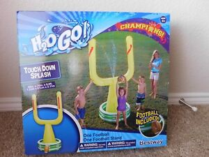 Brand New H2OGO! Bestway Touch Down Splash Sprinkler Inflatable football stand