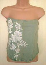 Waist Length Bandeau Classic Floral Tops & Shirts for Women