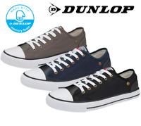 Men's Dunlop Austin Canvas Pumps plimsolls Trainers Lace Up Memory Foam Shoes