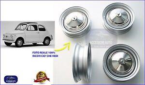 Cerchi Fiat 500 Epoca Cerchioni + Copricerchi  Ruote Set da 4 Cerchio Vecchia
