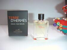 SUPERBE miniature TERRE de HERMES  pleine + boite NEUVE  5 ML PUR PARFUM