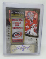 2016-17 Upper Deck Black Diamond Championship Banners Cam Ward Auto Carolina
