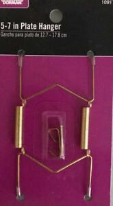 "Dorman Hardware Decorative 5"" 6"" 7""Plate Hanger Includes Nail & Hook 1091 Hang"