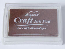 Rubber Stamps Craft  Ink Pad for Paper Wood Fabric 15 Colours UK Card Making